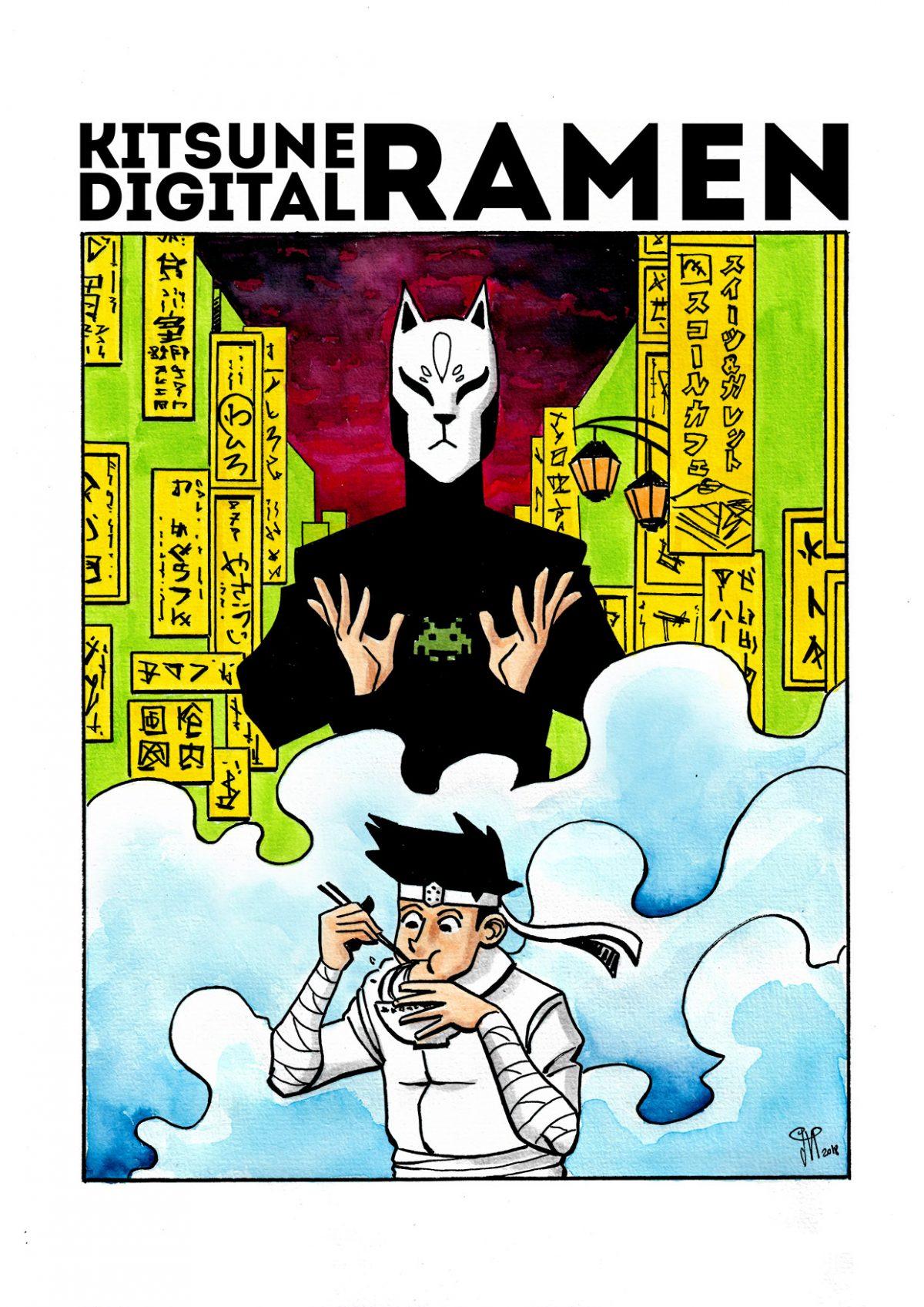 Komikero Invisible Kitsune Digital Ramen