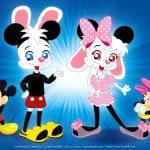 Hans y Greta como Mickey y Minnie